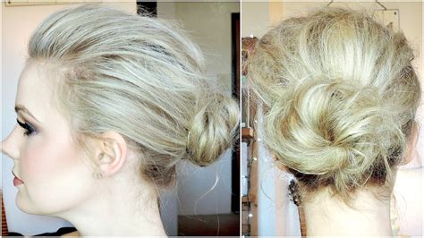 thinning bun hollywood inspired volumized bun tutorial for fine hair