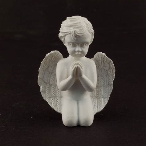ceramic praying angel cherub figurine statue church