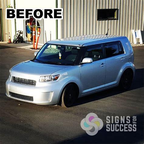 custom color custom color change vehicle wrap scion xb signs for