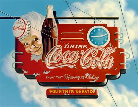 680 best vintage outdoor wall advertising art images coca cola painting by cordle
