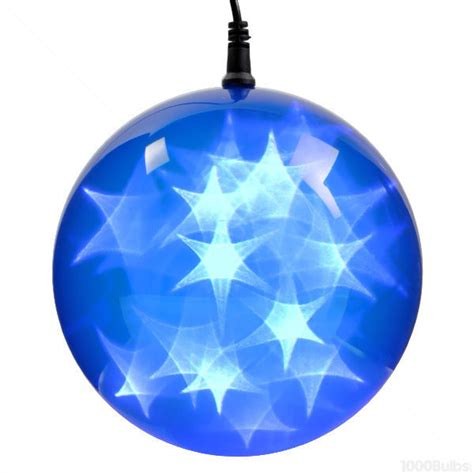 blue holographic starfire sphere led lights