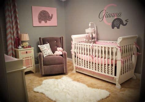 giannas pink  gray elephant nursery reveal project