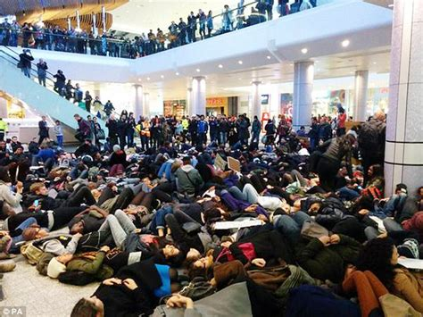Causes Chaos At The Mall by Westfield Shoppers Sees Protesters Cause Chaos With Die