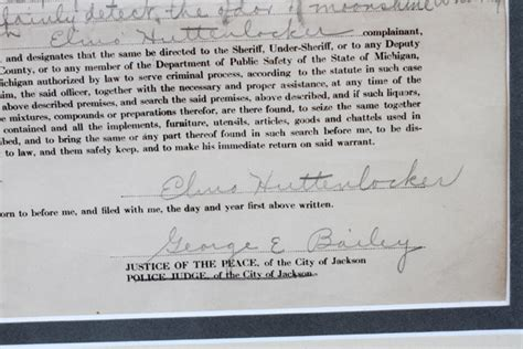 Mi Warrant Search Jackson Mi Search Warrant For Moonshine 1926