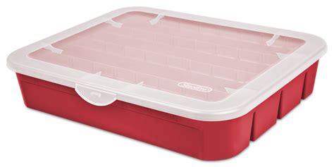 plastic ornament storage containers sterilite 1979 adjustable ornament box