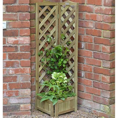 Corner Trellis Planter by Vegetable Planters Sale Fast Delivery Greenfingers