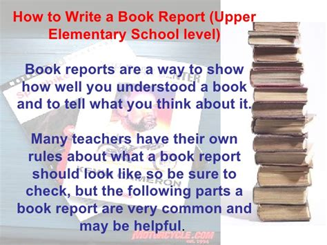 how to write a great book report book review