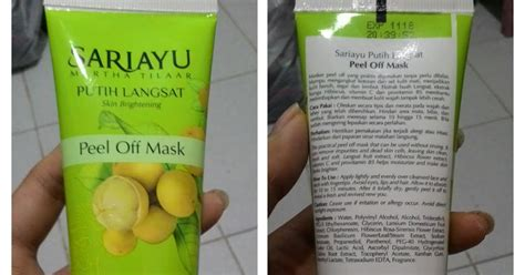 Masker Peel Sariayu mix of review sariayu putih langsat peel mask