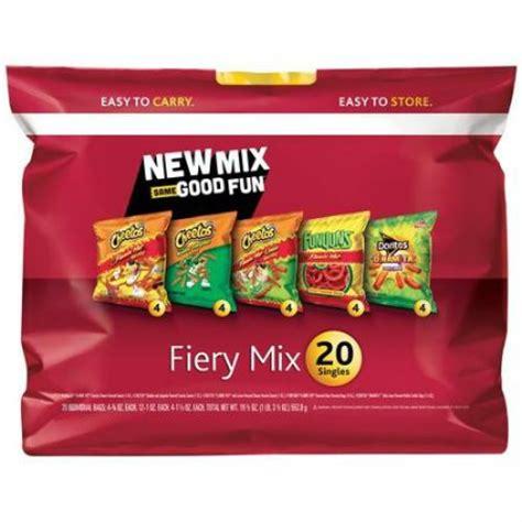hot chips mix frito lay fiery mix cheetos flamin hot cheddar jalapeno
