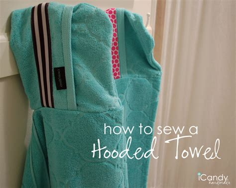 Icandy Handmade - hooded towel tutorial icandy handmade