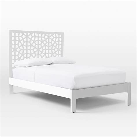 white bed frame morocco bed white west elm