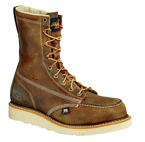 wedge sole work boots thorogood 8 quot steel toe wedge sole work boot u s a made