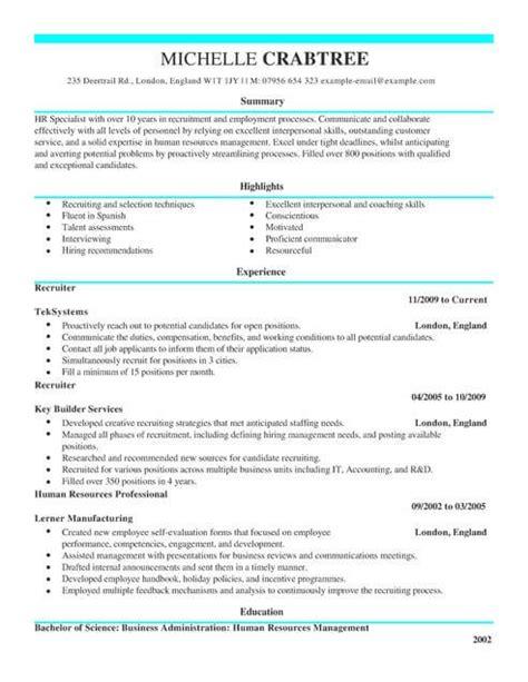 it specialist cv template recruiter cv template cv sles exles