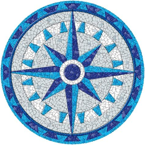 Mosaic Templates completed dragonfly blue mosaic mandala kit created in