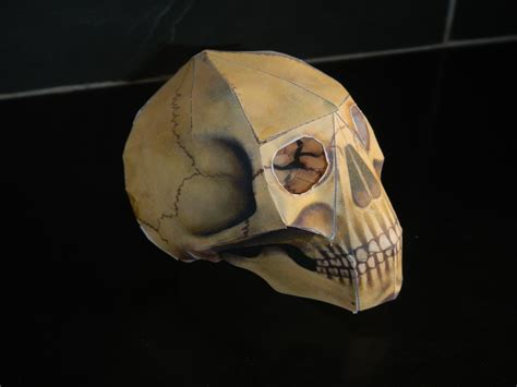 Origami Skull 3d - human skull origami le pot 2 colle cie