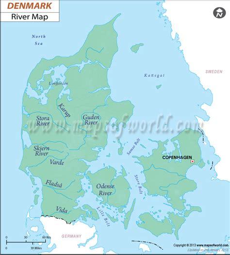 river map  denmark denmark river map denmark detailed