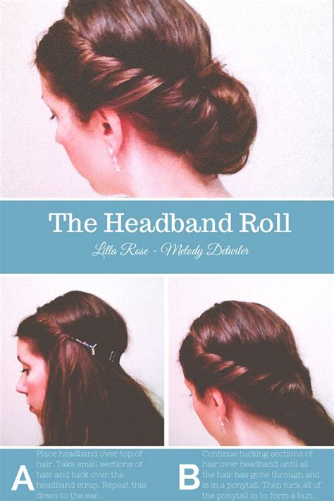 how do you put in your hair you wanted to put your hair up in a headband roll