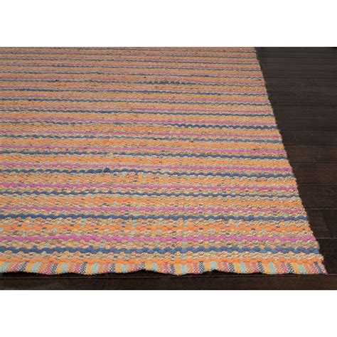 orange pink rug jaipur rugs naturals stripe pattern orange pink cotton and jute area r rugmethod