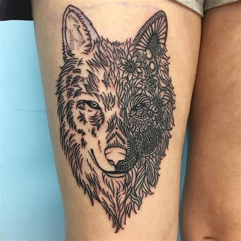 cute thigh tattoo designs 21 wolf designs ideas design trends premium