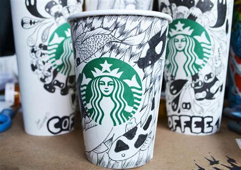 starbucks doodle travel mug starbucks cups doodle by simplysaraart on deviantart