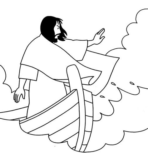 coloring pages jesus in the boat free coloring pages of jesus sleeping in boat