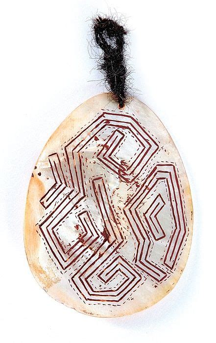 Shell Table Aboriginal Artist Unknown Engraved Pearl Shell Riji