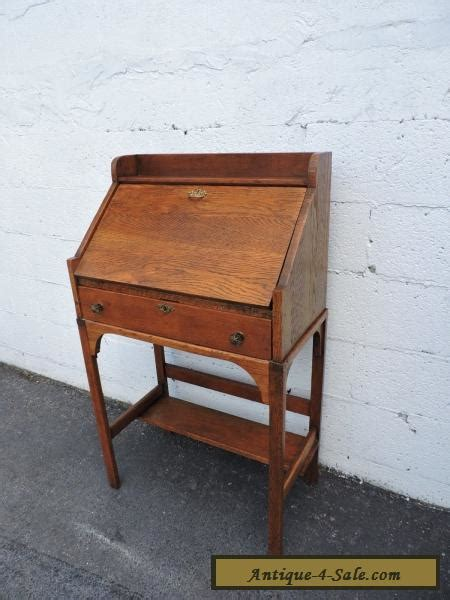 antique mission oak desk for sale early 1900 s small mission solid oak secretary desk 7759