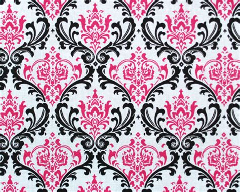 pattern black and pink printed cotton fabric swatchs for custom curtains shades