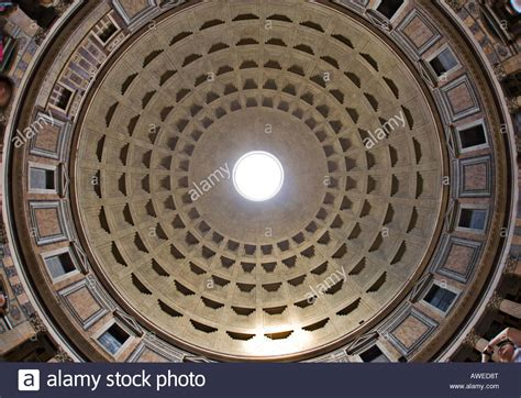 cupola pantheon cupola interior view of the pantheon rome italy europe