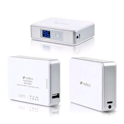 Power Bank Mini melkco power bank mini 5200 2 1a output 5200mah white