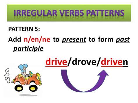 pattern verb definition irregular verbs patterns