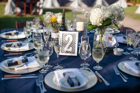 Navy Blue, Silver and Yellow Wedding Reception   Wedding