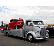 1947 Ford COE Car Hauler With A 5 Window Deuce Coupe