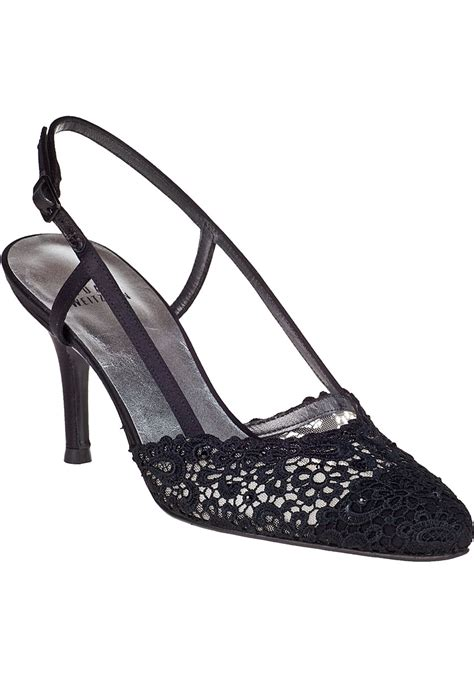 stuart weitzman evening pumps black lace in black lyst