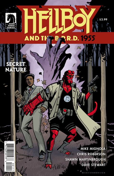 libro hellboy and the b p r d hellboy and the b p r d 1955 secret nature profile dark horse comics