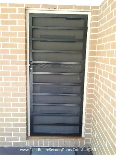 black mildura steel security door  privacy mesh