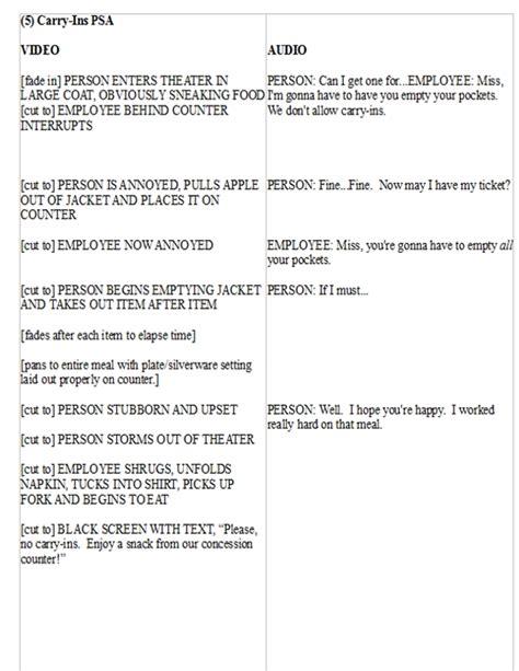 tv commercial script template tv radio carlson media