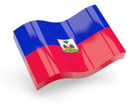 emoji hati glossy wave icon illustration of flag of haiti