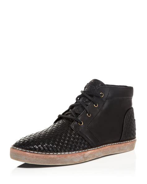 ugg boot sneakers lyst ugg australia alin woven chukka sneaker boots in
