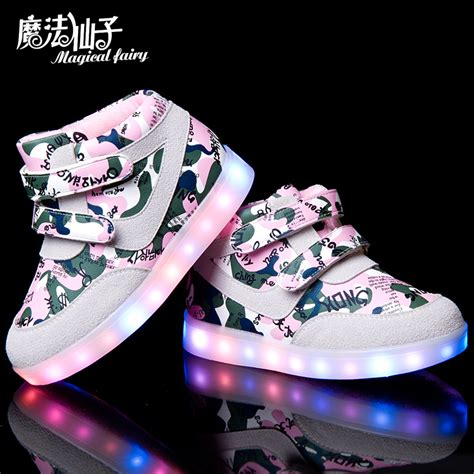 child 2015 light shoes color changing light charge