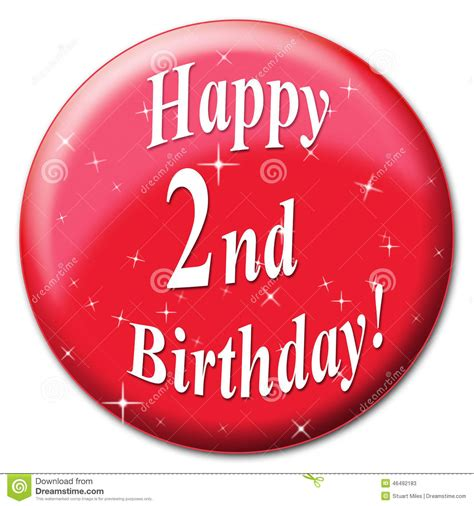 Happy 2nd Birthday Wishes Happy Second Birthday Means Celebrate Greetings And