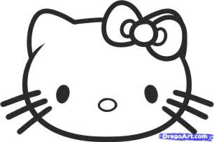How to draw hello kitty for kids step by step characters pop