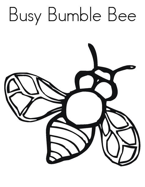 bee color bumble bee cut out coloring home