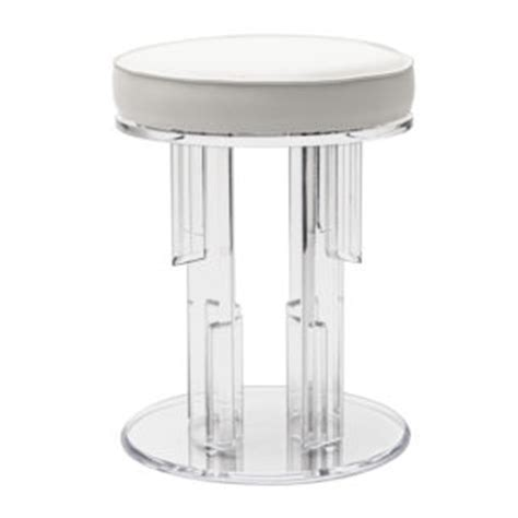 Glass Stools by Lucite Acrylic Glass Stools By Plexi Craft