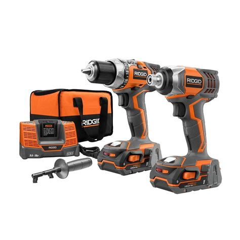 ridgid reconditioned 18 volt drill and impact combo kit