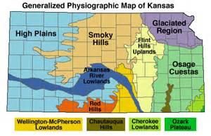 physiographic regions map geomorphology of kansas