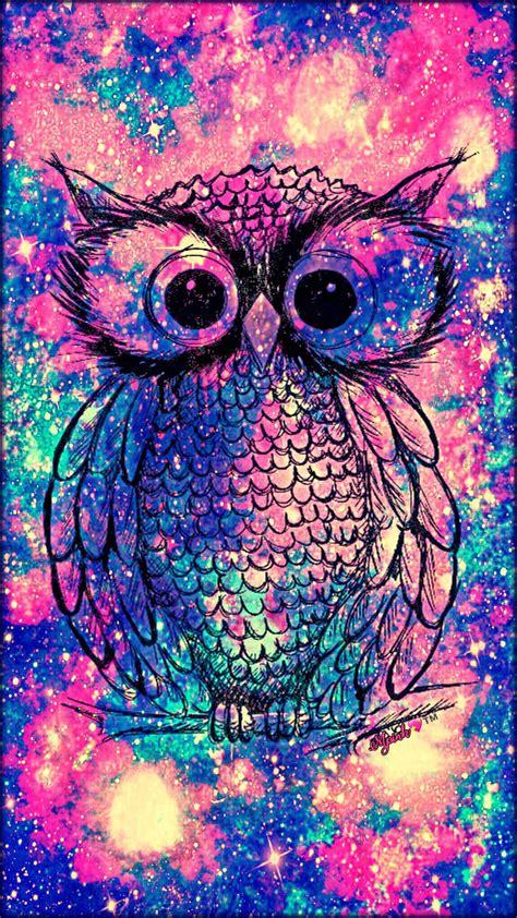 girly bird wallpaper vintage owl galaxy wallpaper androidwallpaper