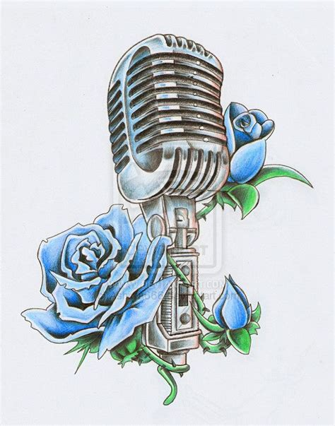old fashioned microphone tattoo designs microphone buscar con tatuajes
