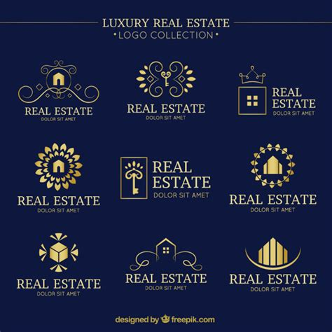 luxury real estate luxury real estate logo collection with folden details