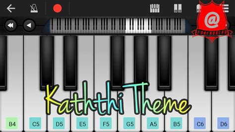 theme music kaththi kaththi theme song keyboard notes tutorial youtube